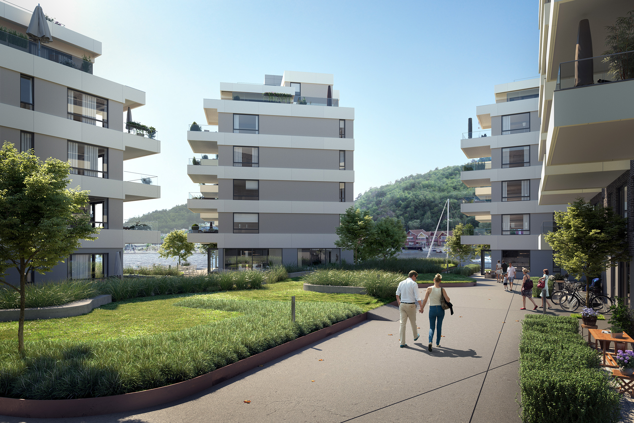 Residential development, Oslo area, Norway- EVE IMAGES