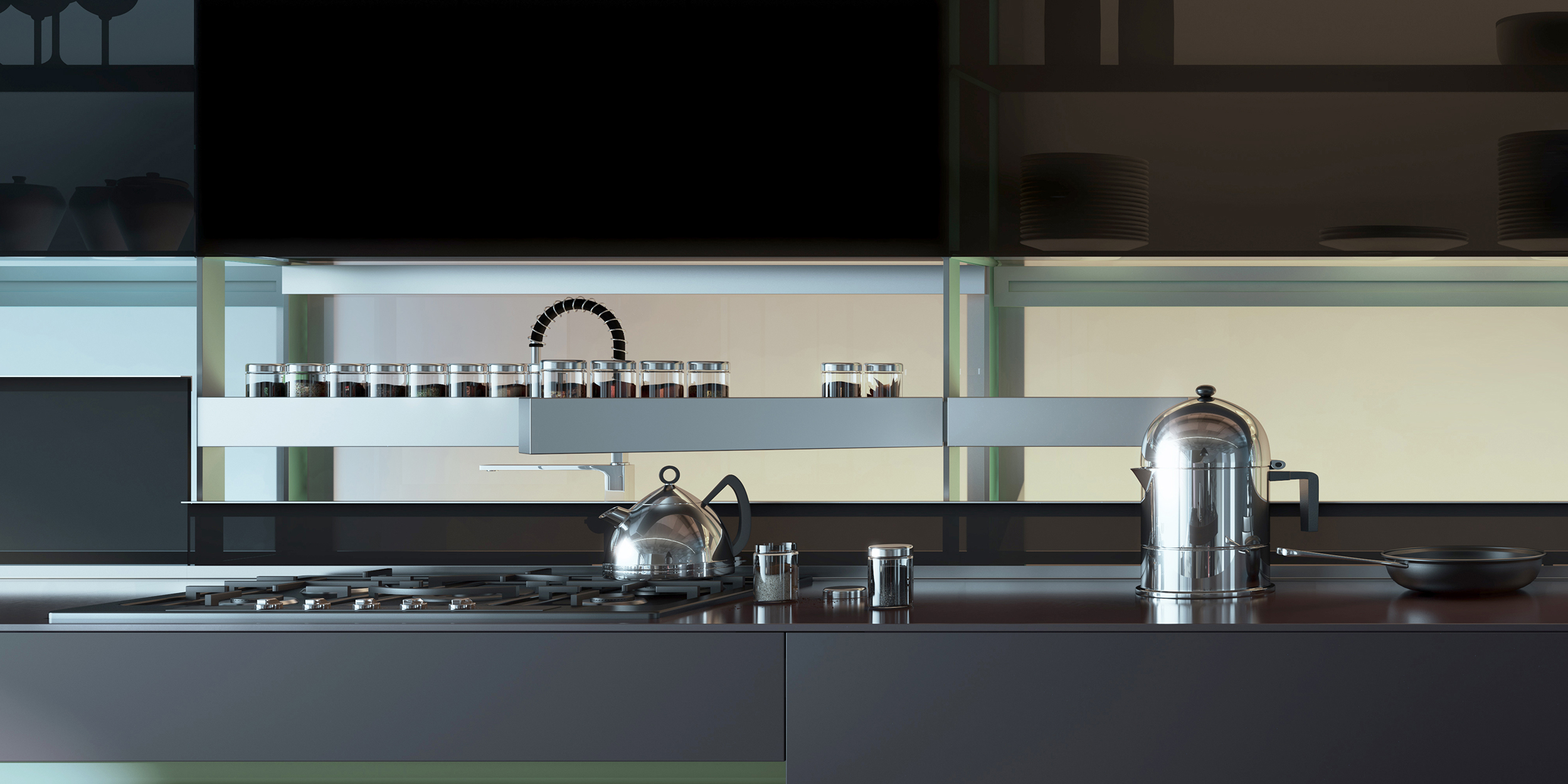 Valcucine kitchen in black