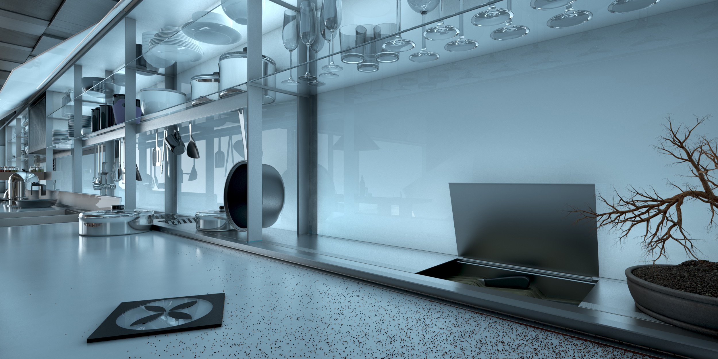 Valcucine kitchen- interior and product design-detail