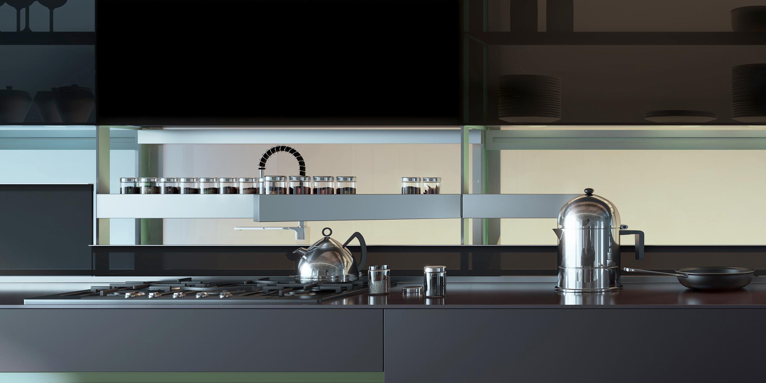 Valcucine kitchen in black